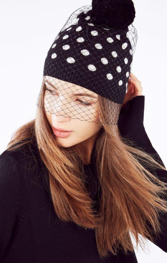 шапка с вуалью фото