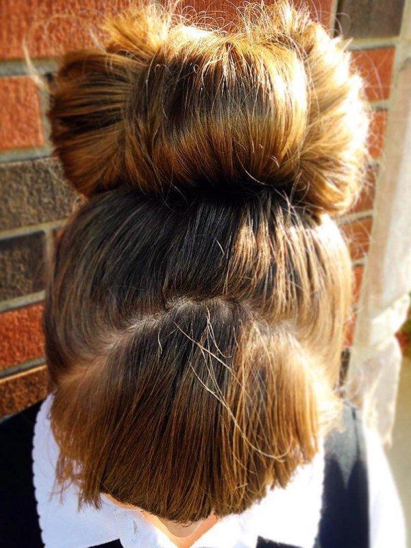 большой бант из волос для девочки