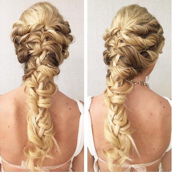 прическа коса русалки фото