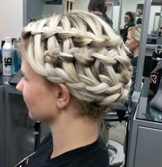 прическа коса корзинка