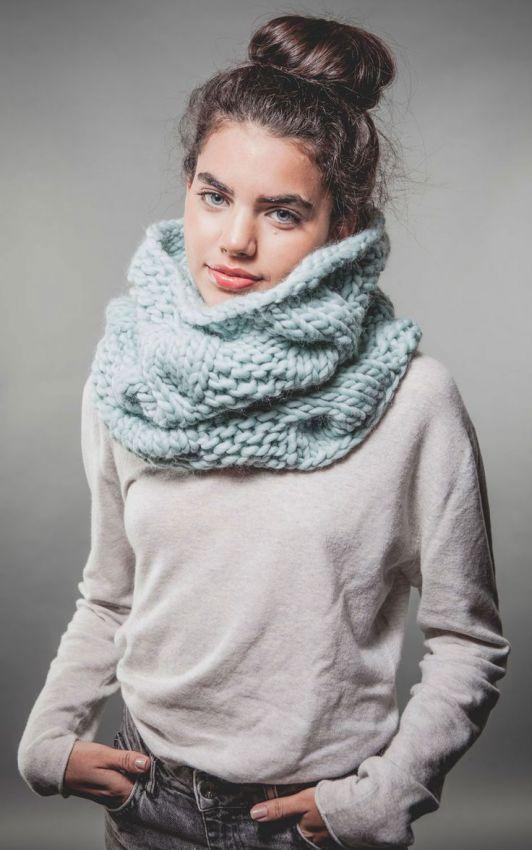 вязаные шарфы снуды