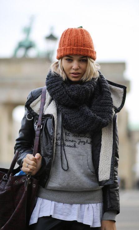 модные шарфы труба