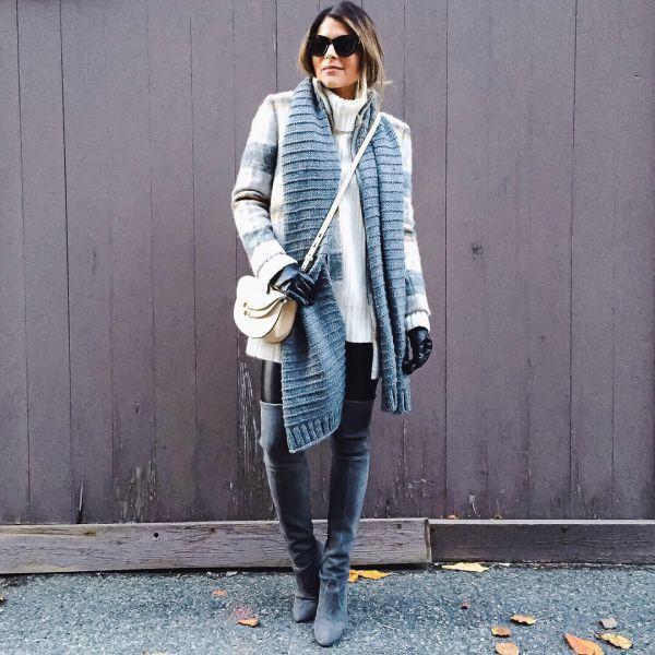 стильные шарфы сезона осень-зима 2018 2019