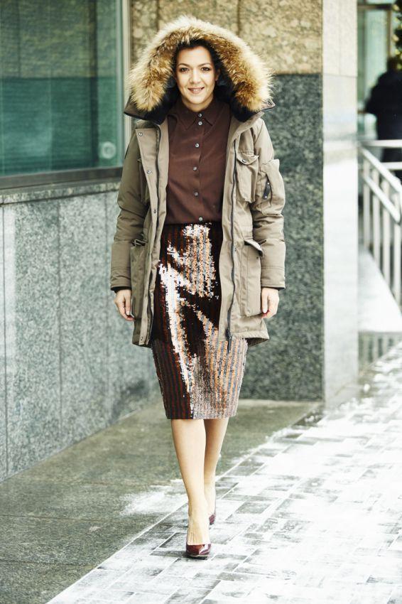 пальто парка женская