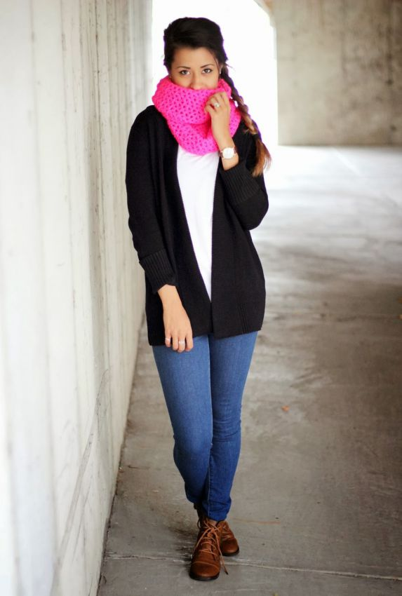 цветной оригинальный шарф