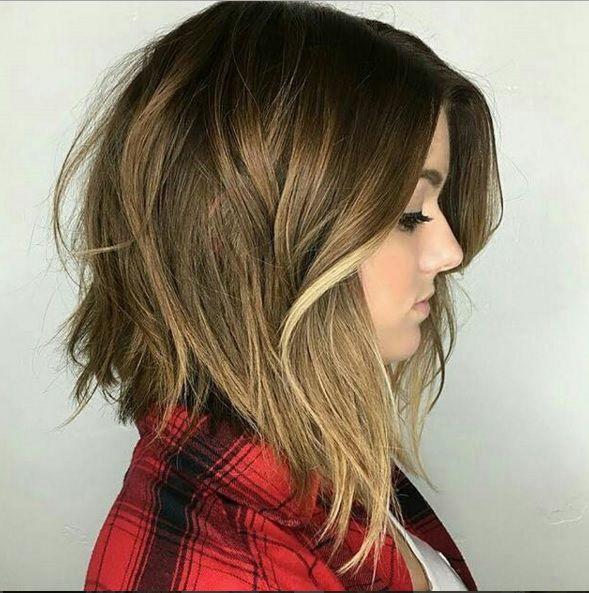 стрижки для круглого лица на средние волосы стиль 2018
