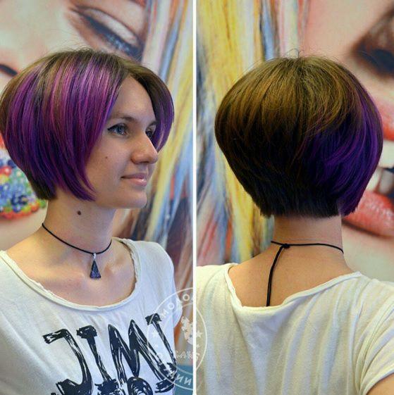 прически для овального лица на средние волосы вид сзади