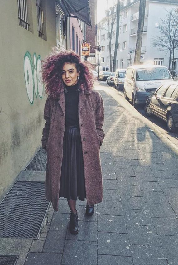 женское пальто оверсайз фото