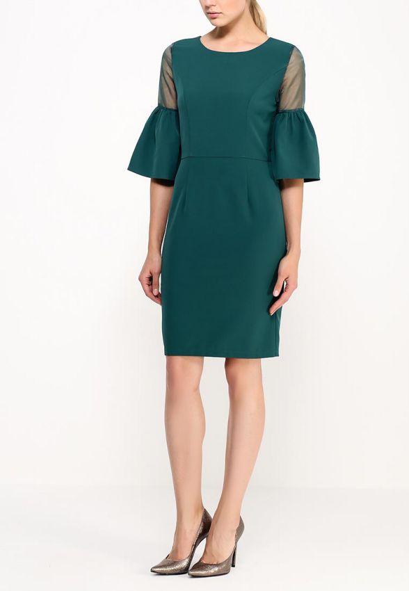 темно зеленое платье футляр