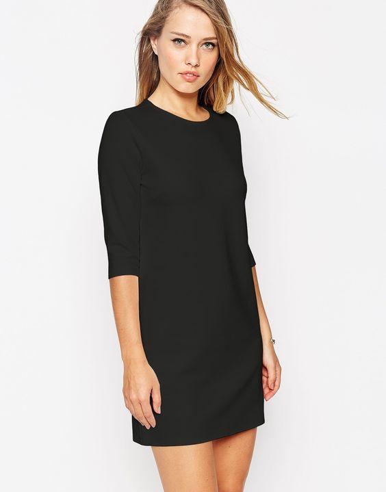 черное платье футляр рукав ¾