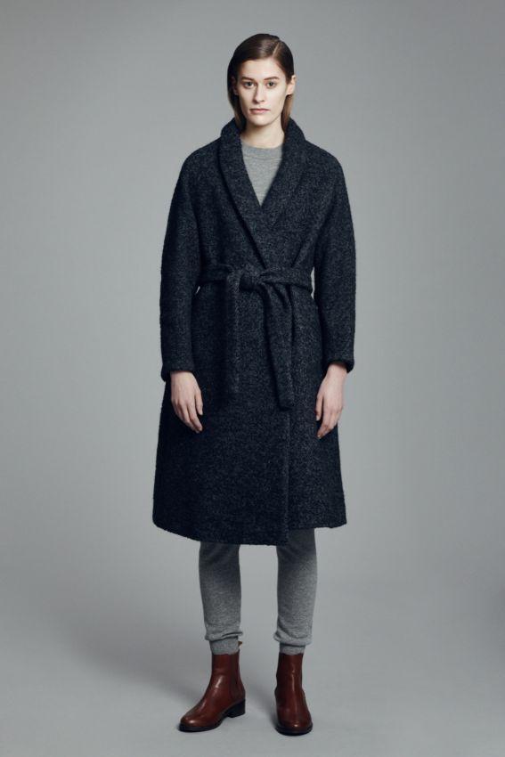 как носить пальто халат