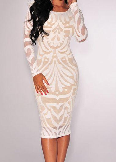 платье футляр с длинным рукавом