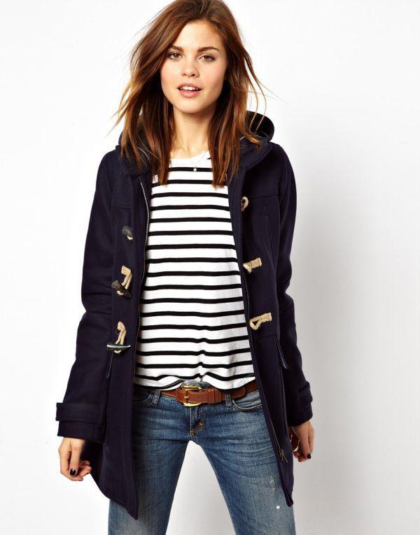 женское пальто дафлкот фото