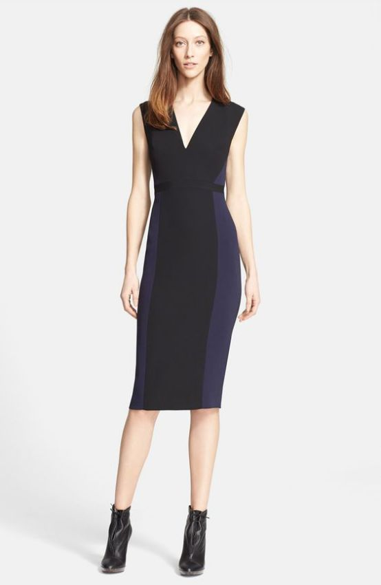 черное платье футляр из трикотажа