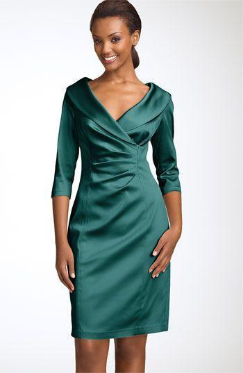платье футляр из атласа