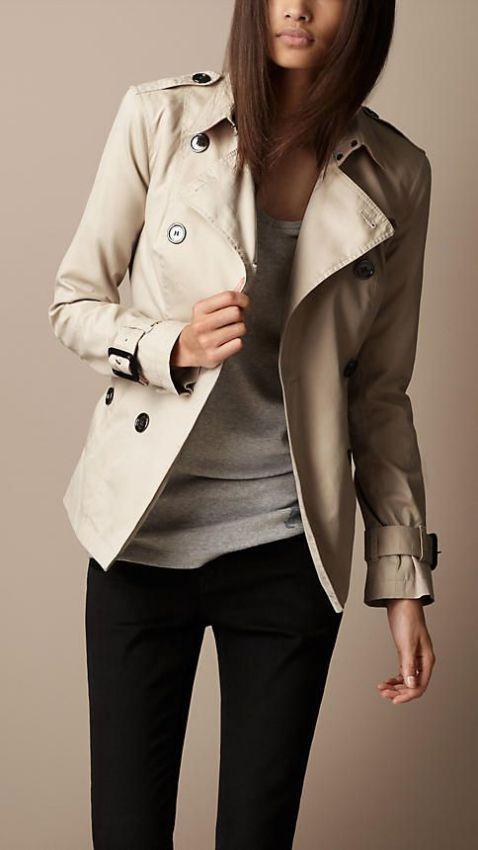 классическое укороченное женское пальто