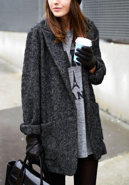 женское твидовое пальто фото