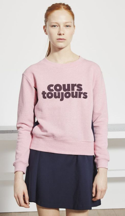 розовый стильный свитшот фото