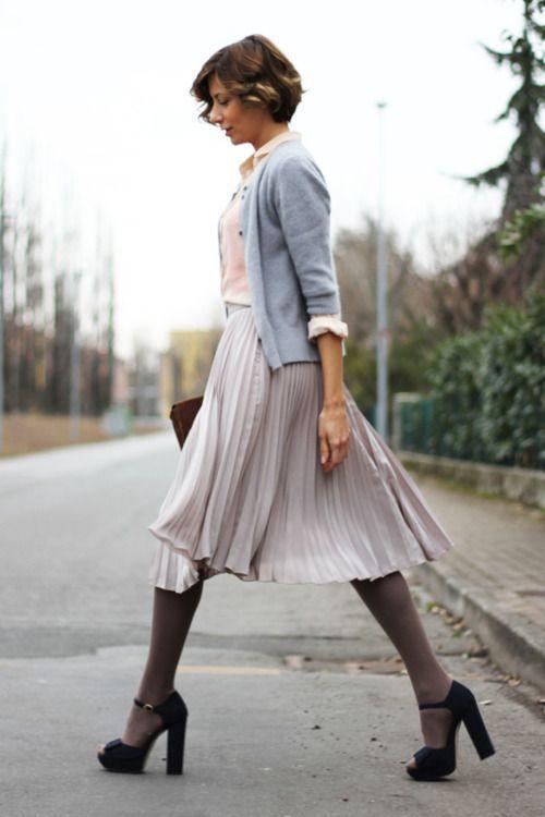 плиссированные юбки фото