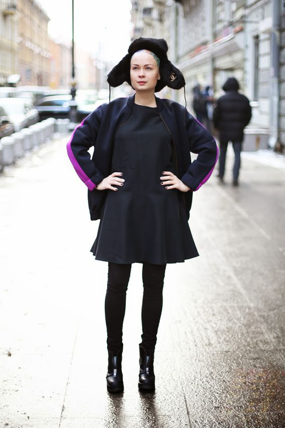 женская шапка ушанка