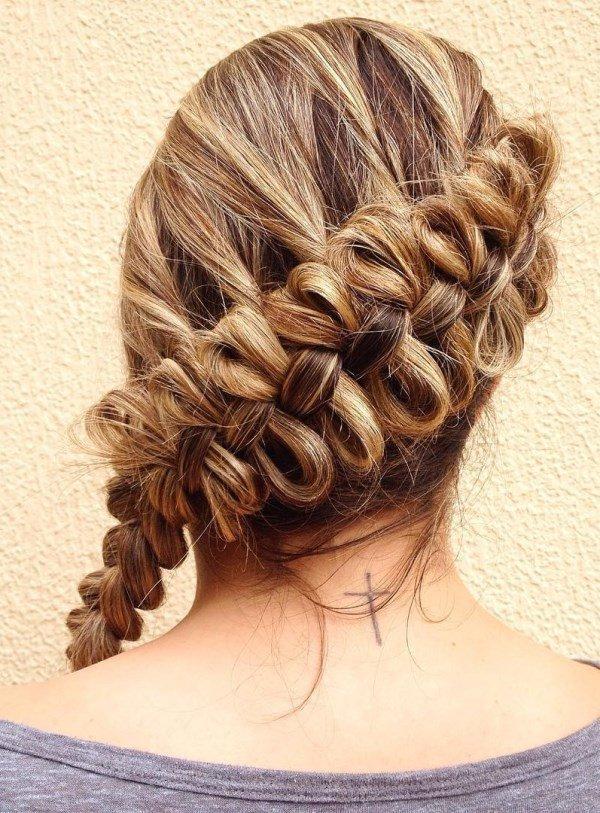 французская коса с бантами для девочки фото