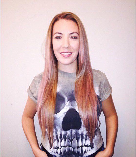 пепельно розовый цвет волос