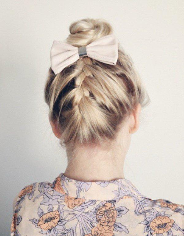 коса с бабочкой