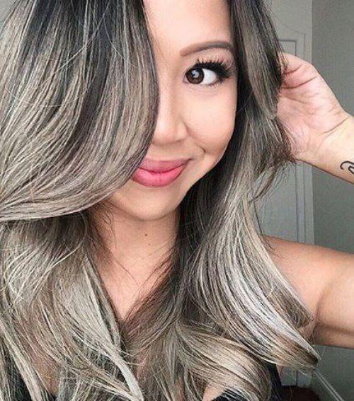 пепельно-серый цвет волос