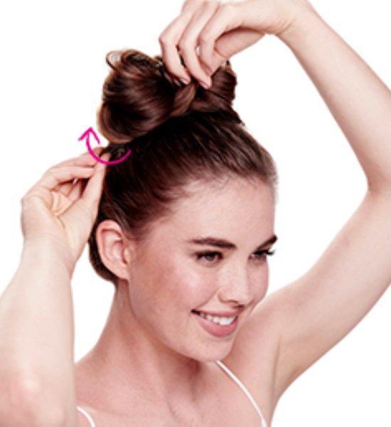 прическа бант из волос пошаговая инструкция