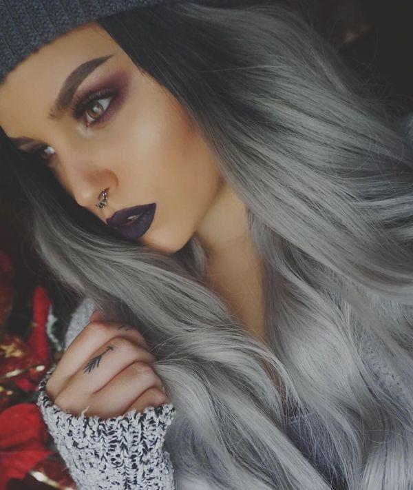 седой цвет волос фото