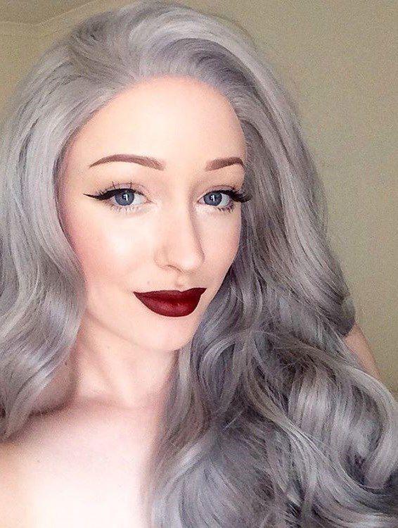 модный седой цвет волос