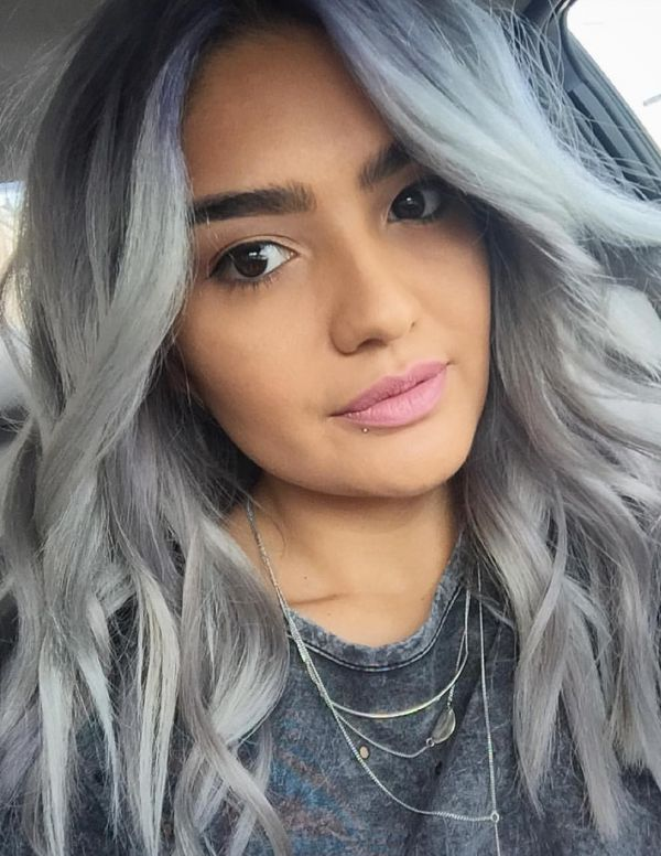 Окрашивание волос в пепельный цвет фото