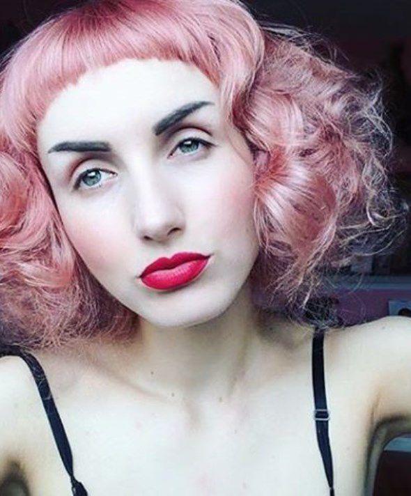 круглая челка для средних волос фото