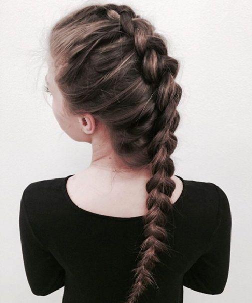 прическа французская коса