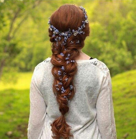 прическа на хвосте коса