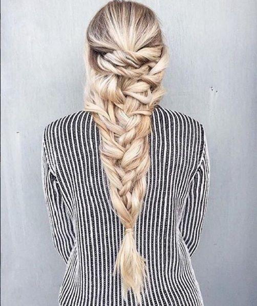 прическа коса русалки