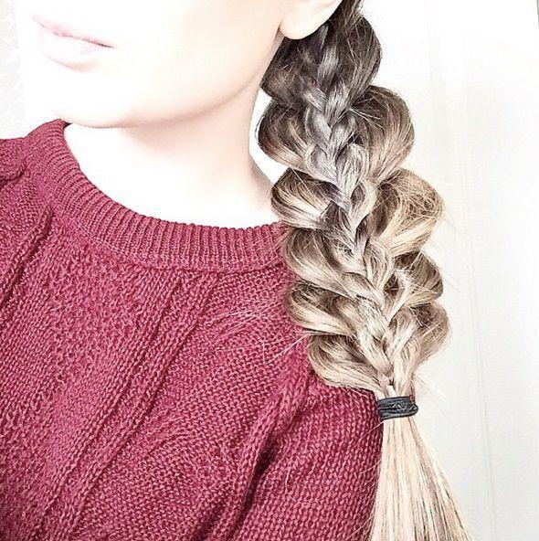 прическа коса в косе фото