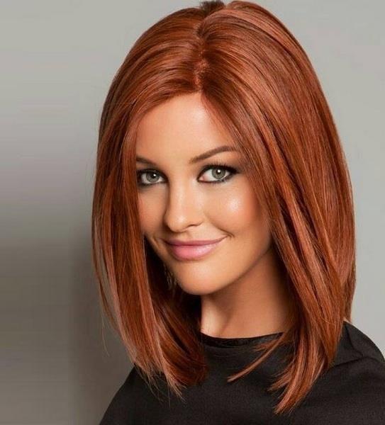 модные рыжие оттенки волос фото