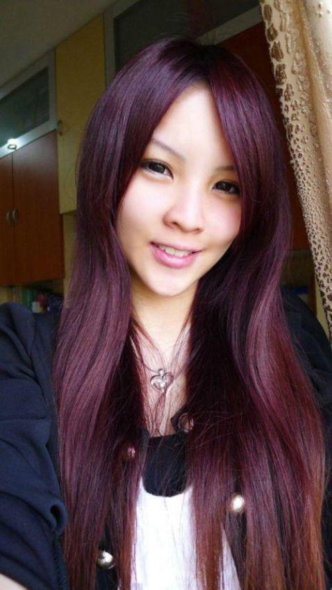 модный цвет волос марсала
