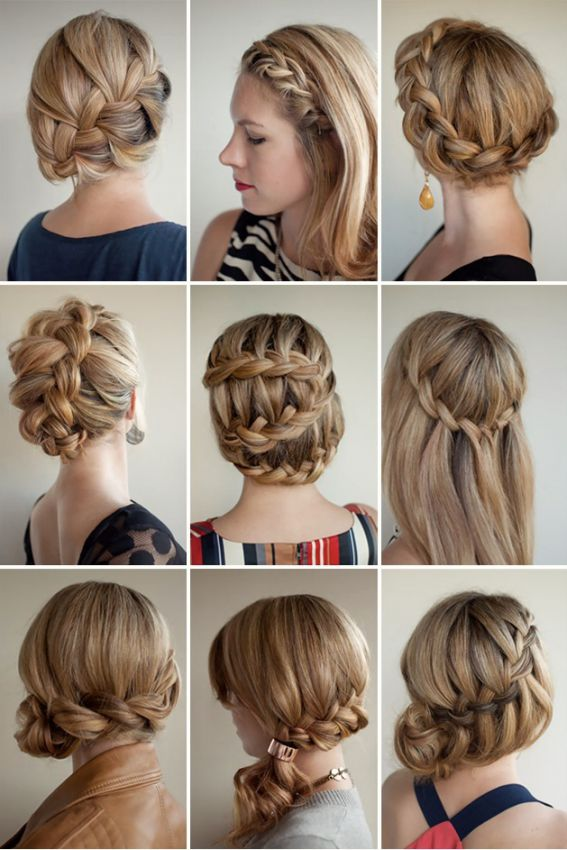 Красивые плетения на средние волосы