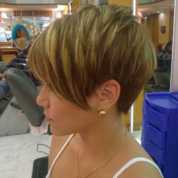 Фото стрижек на короткие волосы с мелированием