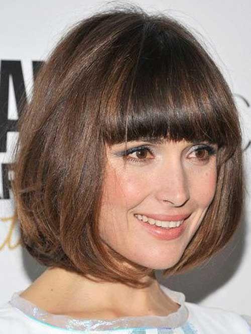 Причёски боб фото с чёлкой