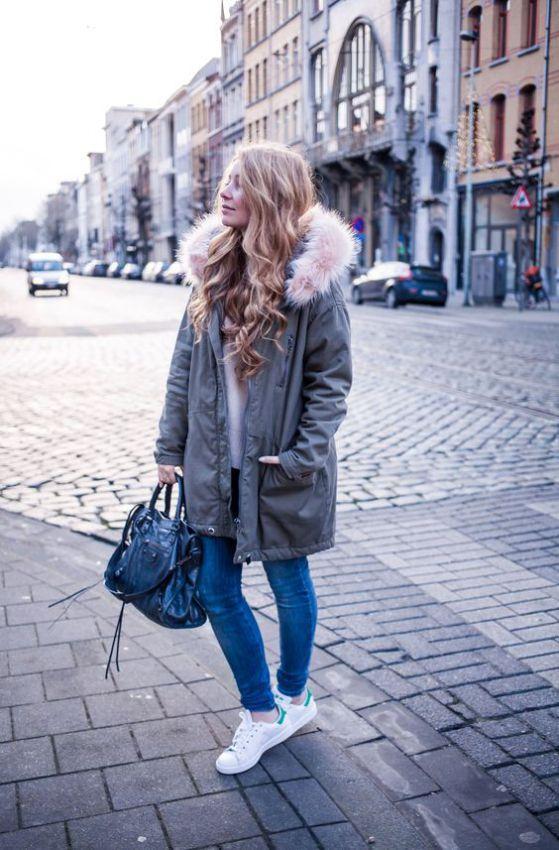куртка парка женская зимняя с мехом фото