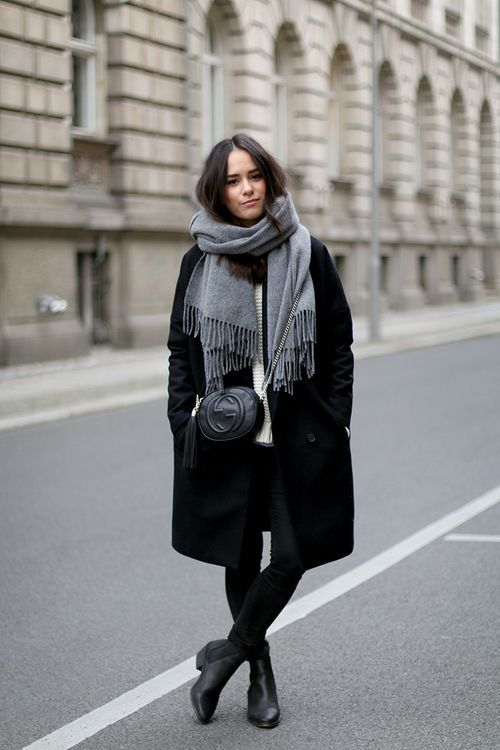 шарф с бахромой