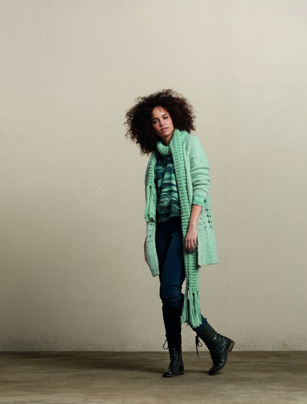 шарф зимний