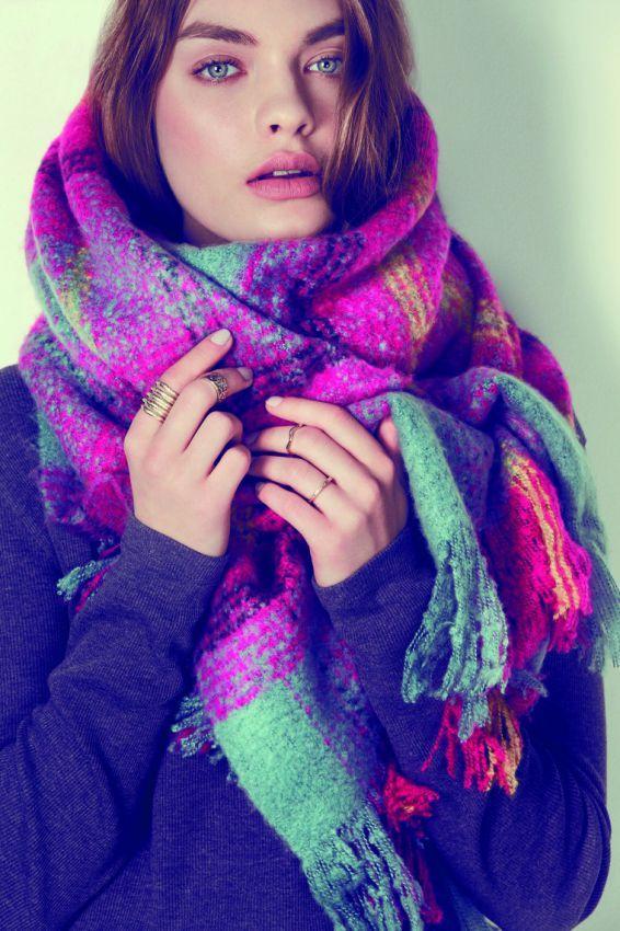 как завязать шарф плед