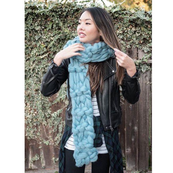 шарфы крупной вязки фото