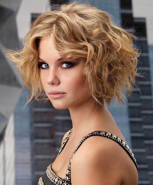 стрижки для кудрявых волос средней длины фото