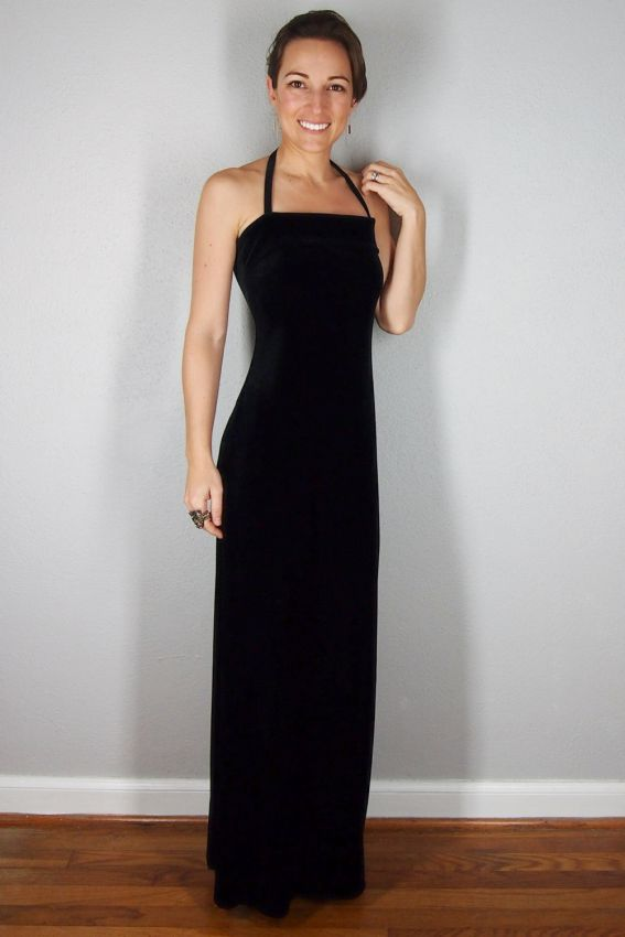 черное коктейльное платье футляр макси