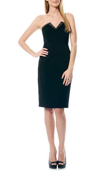 черное платье футляр без бретелек